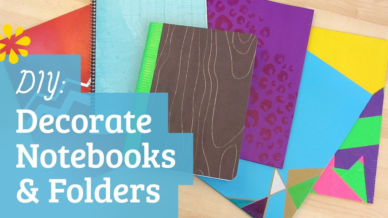 Back to school decorate notebooks and folders youtube for Back to school notebook decoration ideas