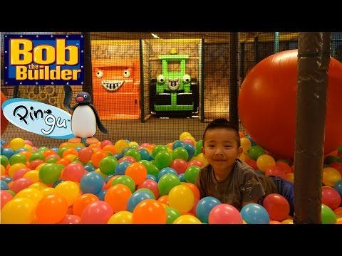 Indoor Playground Arcade Kids Fun Bob The Builder And Pingu In Real Life Ckn Toys