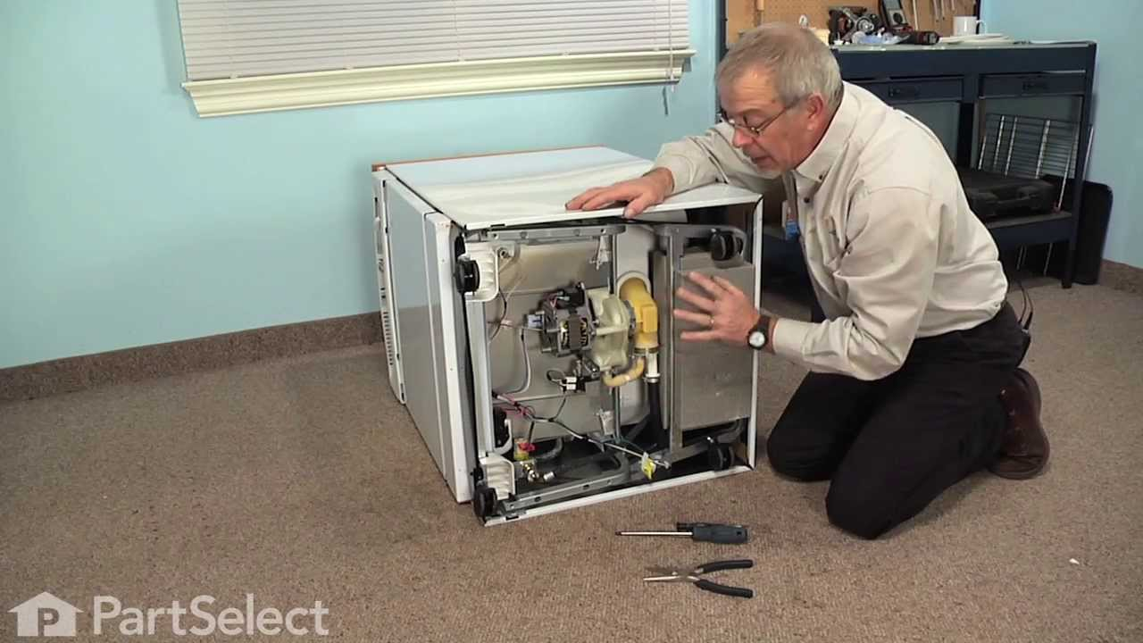 Dishwasher Repair Replacing The Drain Solenoid Ge Part Wd21x10268 Youtube