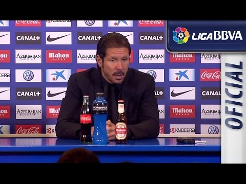 Rueda de Prensa de Simeone tras el Atlético de Madrid (0-0) FC Barcelona - HD