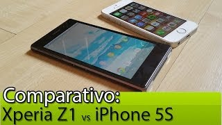 Comparativo: Xperia Z1 Vs IPhone 5S Tudocelular.com