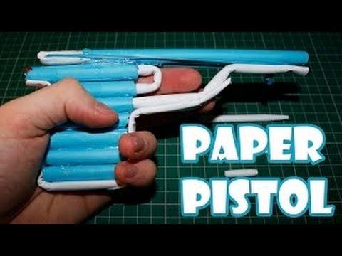 Cách làm súng lục bắn đạn giấy đơn giản