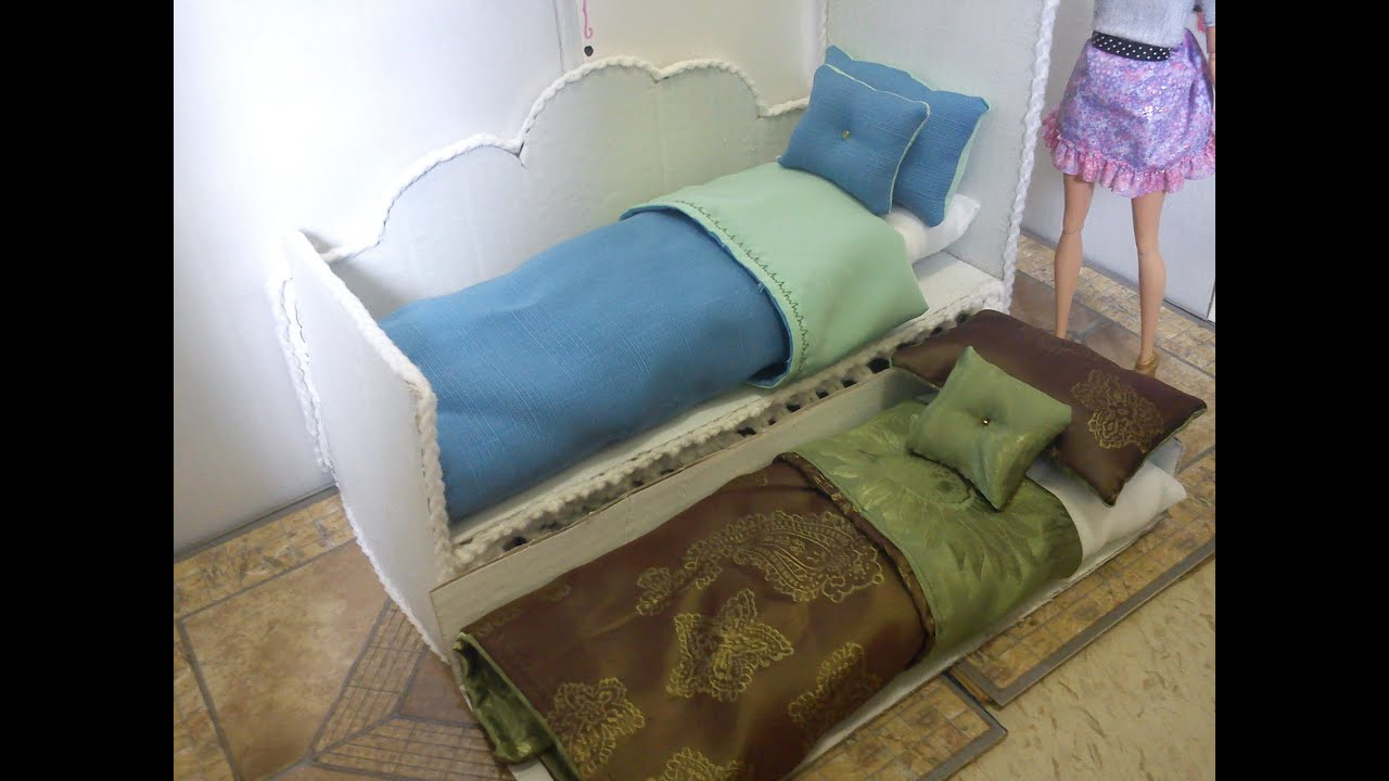 How To Make a Doll Day Bed With Pull-Out Trundle - YouTube