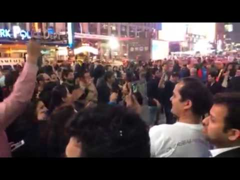 narendra modi wining celebration at (USA)Times Square new york