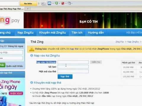 huong dan nap zing xu bang the zing