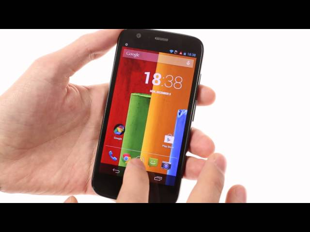 Motorola Moto G: user interface