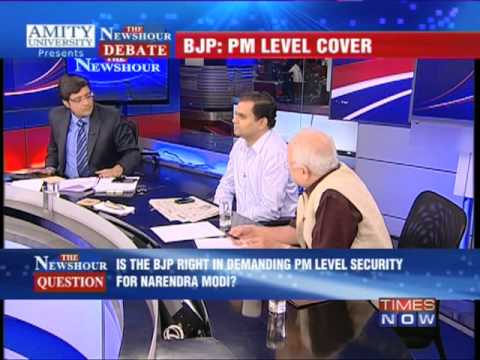 The Newshour Debate : Narendra Modi Threat Perception - Full Debate