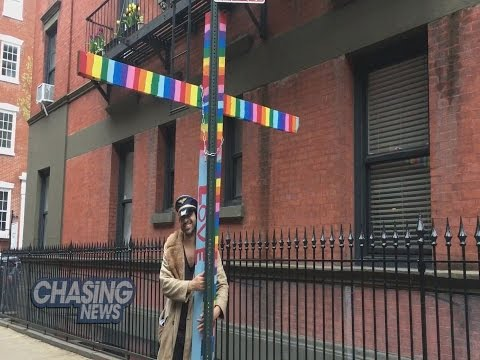 Man Behind The Gay Street Cross Says He Was Just Storing It
