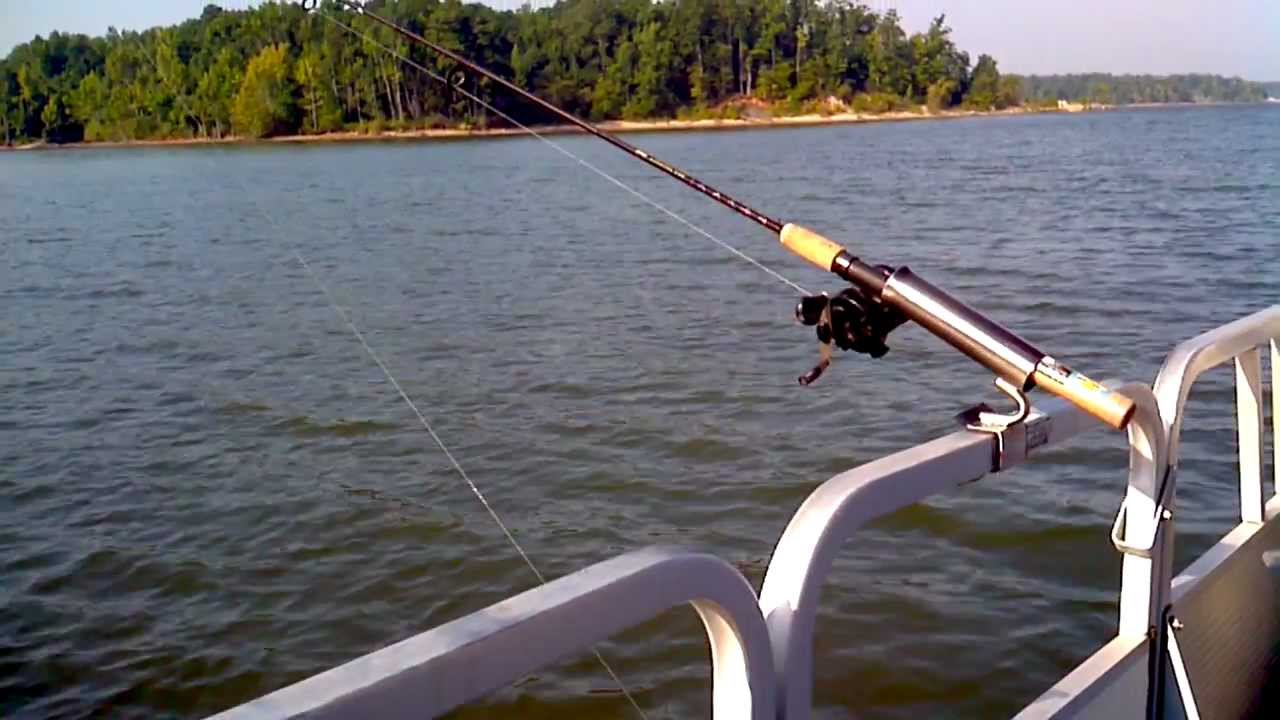 Pontoon boat fishing rod holder no drilling no bolts for Fishing pole holders for boats