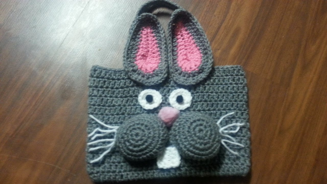 Crochet Bags And Purses Tutorial : Crochet Bag - #Crochet Bunny Bag Tutorial - YouTube