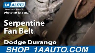 How To Install Replace Serpentine Fan Belt Dodge Dakota