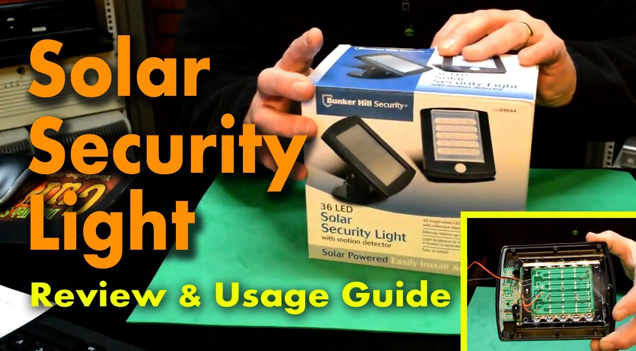 Bunker Hill 36 Led Solar Security Light Review And Usage