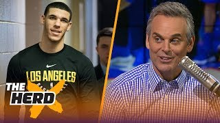 Colin explains why fans booing Lakers rookie Lonzo Ball is great for the NBA | THE HERD