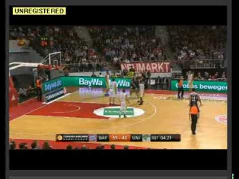 euroleague round 4; bayern munich vs unicaja malaga (08/11/2013) full highlights