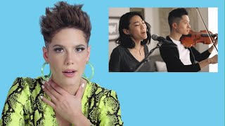 Halsey Watches Fan Covers on YouTube | Glamour
