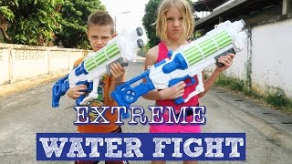 Extreme Water FIGHT on the Streets!!!  GUNS and BUCKETS | Thailand Adventure