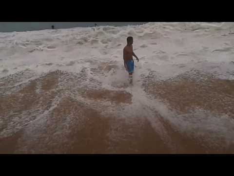 Rio das Ostras-(Jacaré)Surf de Peito na Praia do Abricó