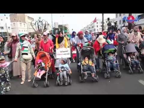 هكذا تضامن الرضع المغاربة مع أطفال فلسطين