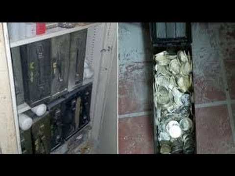 Old Man Coins Man Opens Old Safe