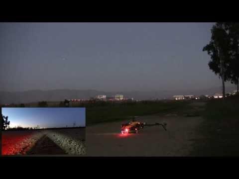 Trex500 Arducopter flight at dusk over Baylands Park,  Sunnyvale, CA