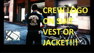 CREW EMBLEM ON SUIT OR SUIT VEST- GTA V5 ONLINE