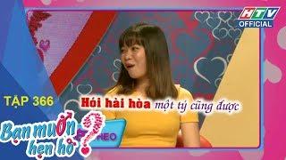 HTV BẠN MUỐN HẸN HÒ | Bất ngờ với chàng trai hát cả hai giọng nam nữ | BMHH #366 FULL | 18/3/2018