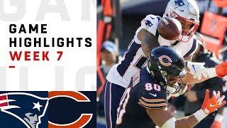 Patriots vs. Bears Week 7 Highlights   NFL 2018
