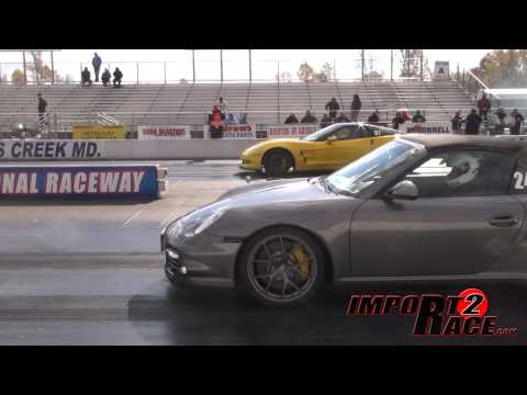 ZR1 Corvette vs Porsche at Maryland International Raceway