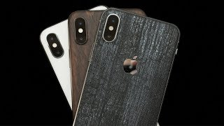DBrand iPhone X Review! Black Dragon, Mahogany, White Marble