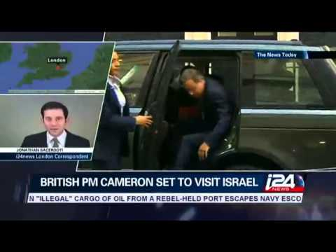Jonathan Sacerdoti on i24news, discussing David Cameron's visit to Israel