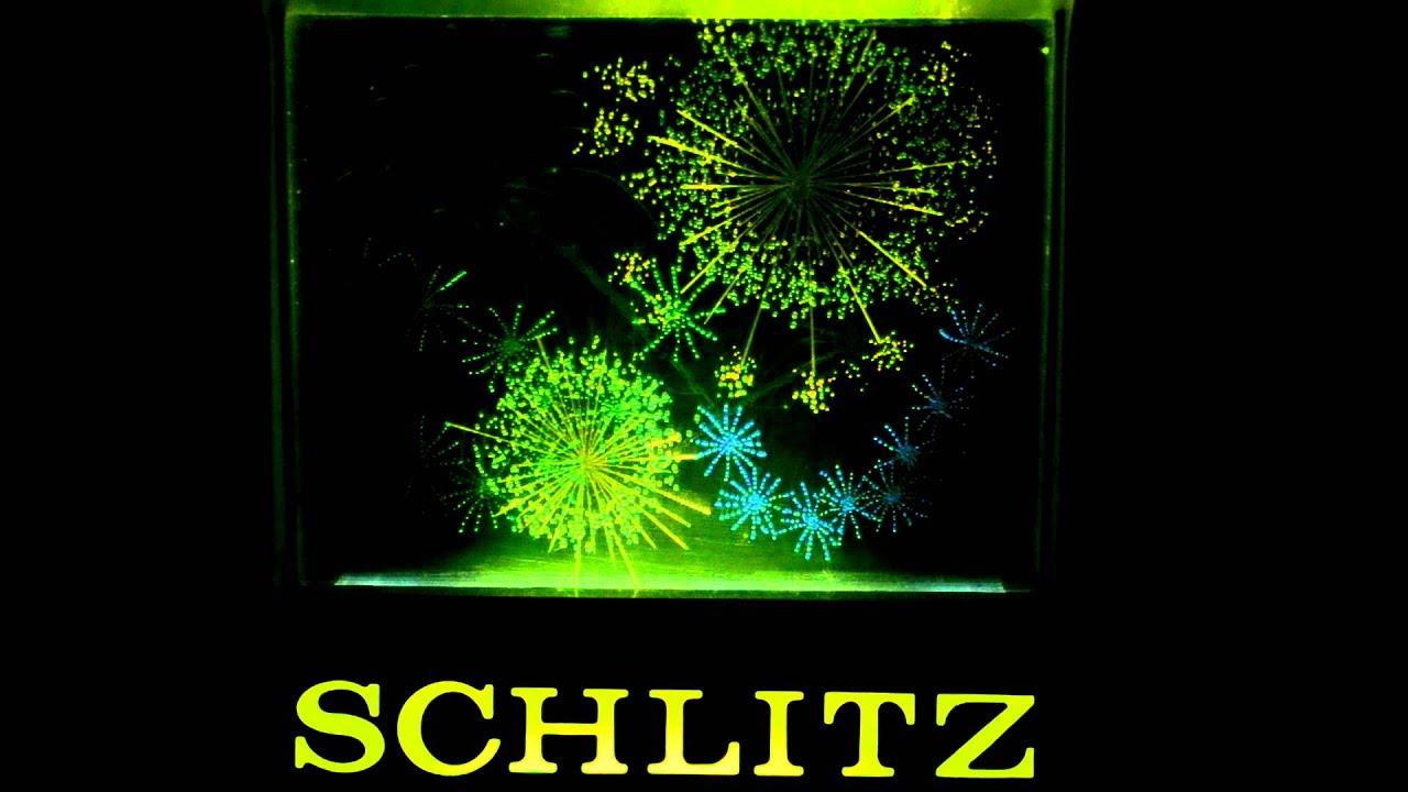 Vintage 1960's Schlitz Beer Sign Animated Fireworks - YouTube