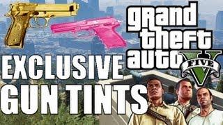 GTA 5 Exclusive Gun Tints GOLD, PINK, PLATINUM Etc