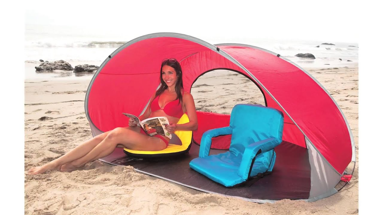 Personal Pop Up Shelter : Picnic time manta sun shelter youtube