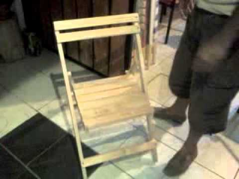 Silla plegable de madera 71 youtube - Sillas de carton plegables ...