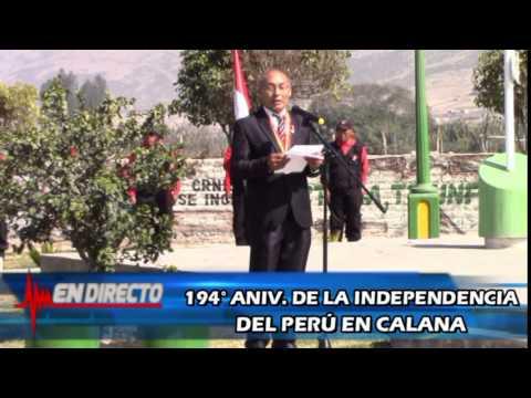 CALANA RINDE HOMENAJE AL PER� POR SUS 194� ANIVERSARIO DE INDEPENDENCIA