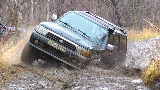 ➤ Toyota 4Runner & Mitsubishi Pajero Sport in MUD  Off-Road 4x4 .. Полный Привод 4х4 - Офф Роуд Видео.