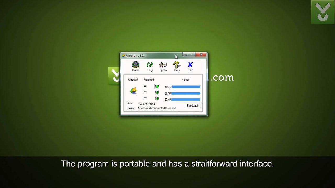 ultrasurf free proxy download software