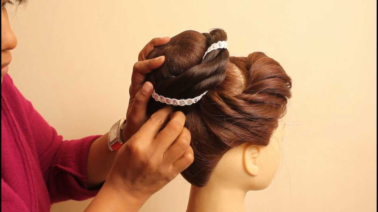 Choti Hairstyle For Indian Wedding