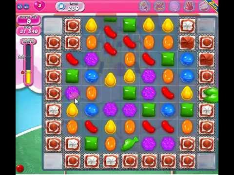 How to beat Candy Crush Saga Level 280 - 1 Stars - No Boosters - 43