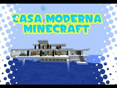 Minecraft casa moderna en el mar modern house descarga for Casa moderna minecraft ita download