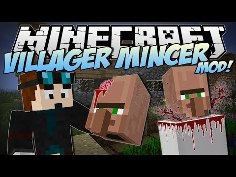 Minecraft | VILLAGER MINCER MOD! (EAT All the Villagers!) | Mod Showcase