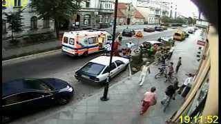 Potrącenie dziecka przez rowerzystę/kolarza. Toruń, ul. Mickiewicza, 11/09/2012