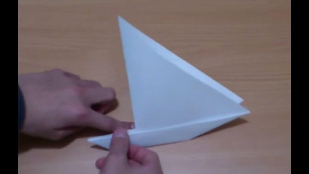 faire un voilier en papier fabriquer un bateau en origami youtube. Black Bedroom Furniture Sets. Home Design Ideas