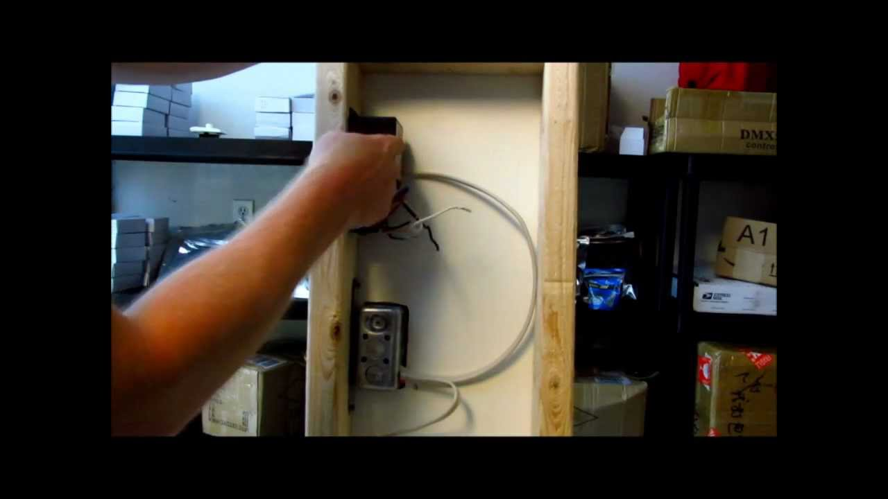 How to install LED Lights to wall dimmer switch with dimmable driver - YouTube