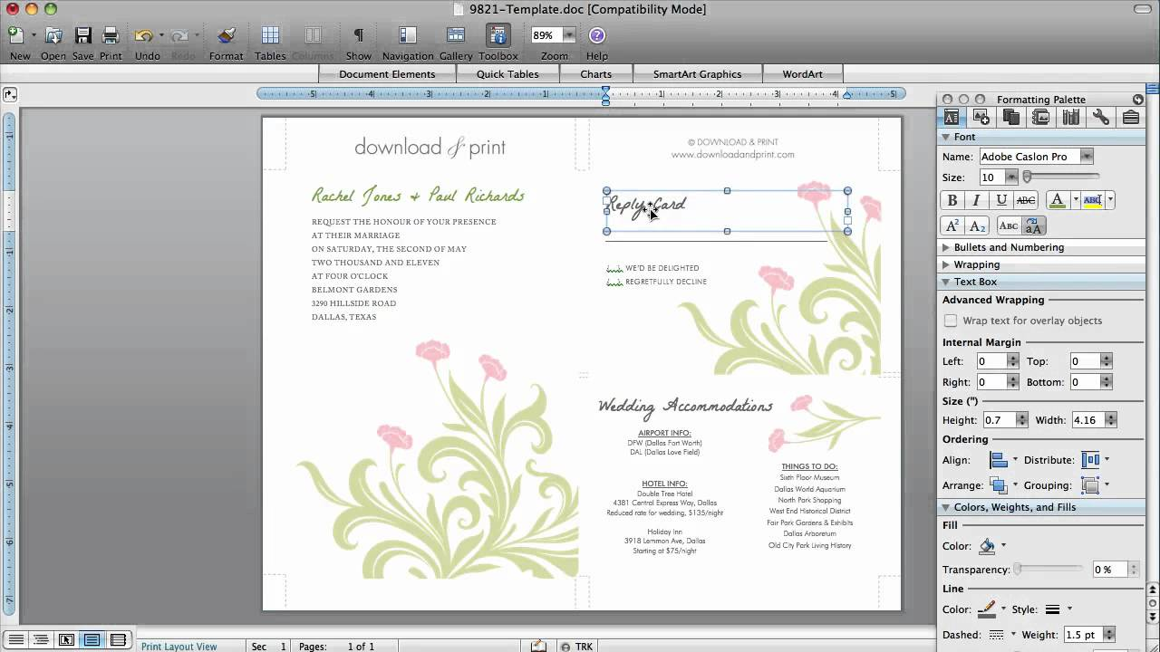 ... invitations, it is Microsoft Office Wedding Invitation Template