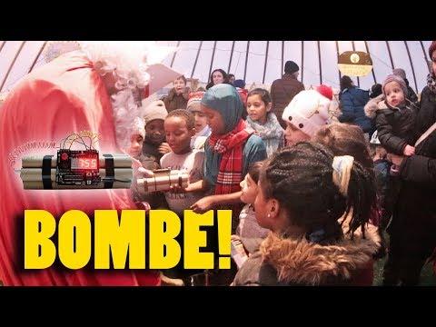Nikolaus belohnt Kinder mit Bombe!