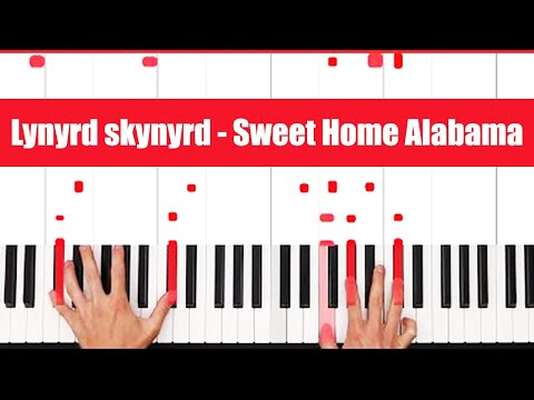 How To Play Sweet Home Alabama Lynyrd skynyrd Piano Chords (FULL LESSON) ♫ EASY
