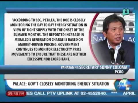 [NewsLife] Palace: Gov't closely monitoring energy situation || Apr. 9, '14