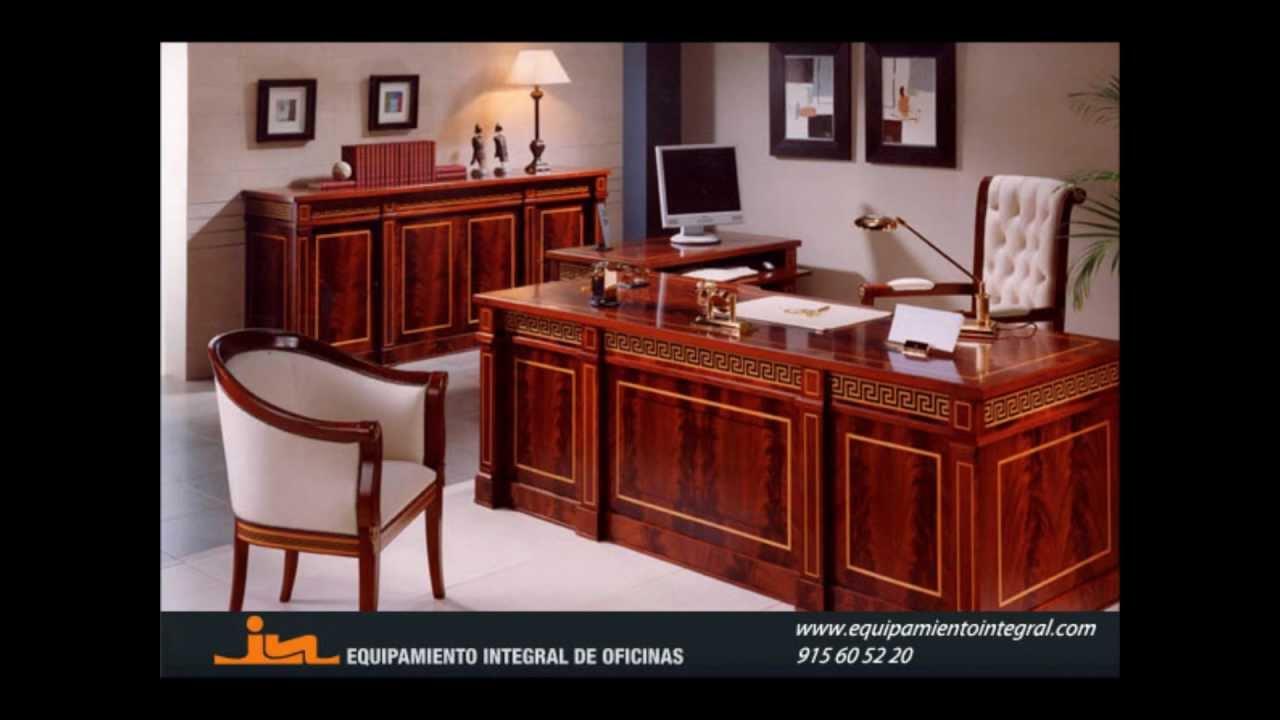 Decoraci n de oficinas estilo cl sico equipamiento for Decoracion estilo clasico