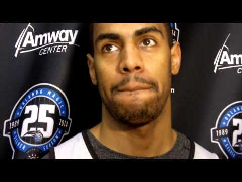 Magic's Arron Afflalo- Practice Interview 10/26/13
